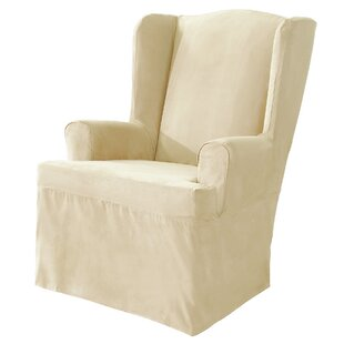Soft Suede T-Cushion Wingback Slipcover
