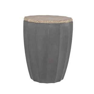 Rue Solid Wood Drum End Table by Gabby