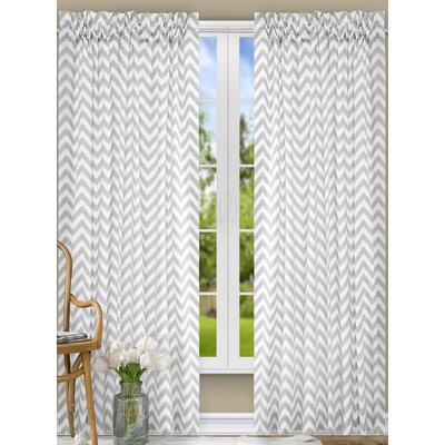"Ellis Curtain Reston Single Curtain Panel Colour: Sterling, Size per Panel: 17"" W x 50"" L"