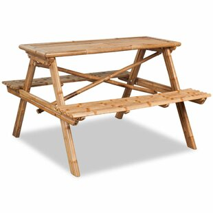 Euclid Wooden Picnic Bench By Bay Isle Home