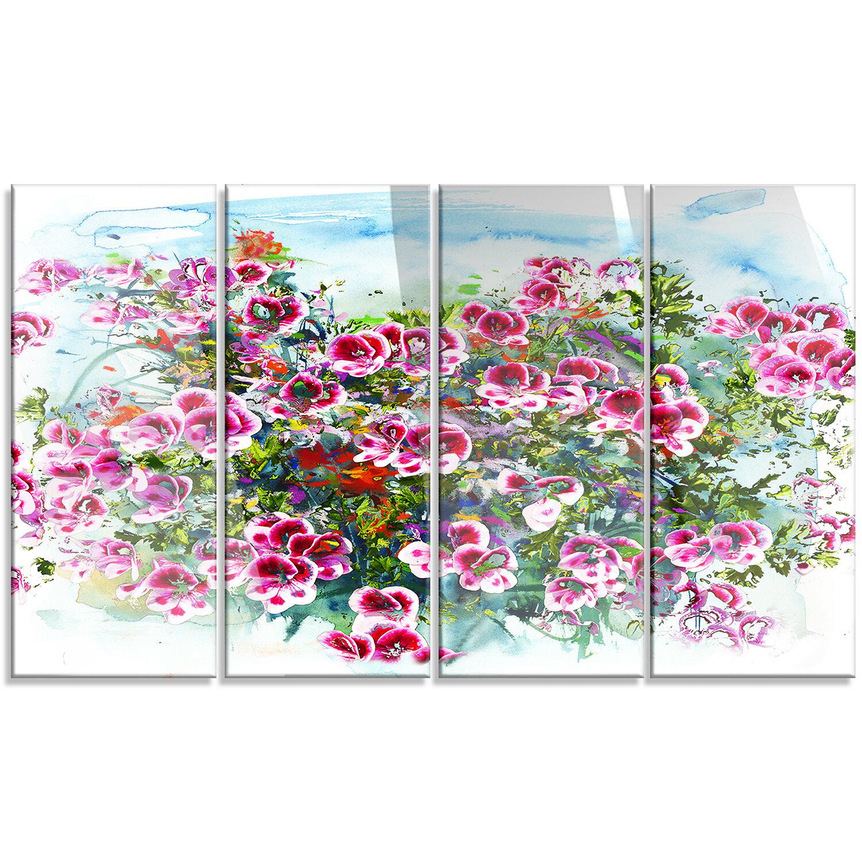 Purple Flowers Watercolor Ilration