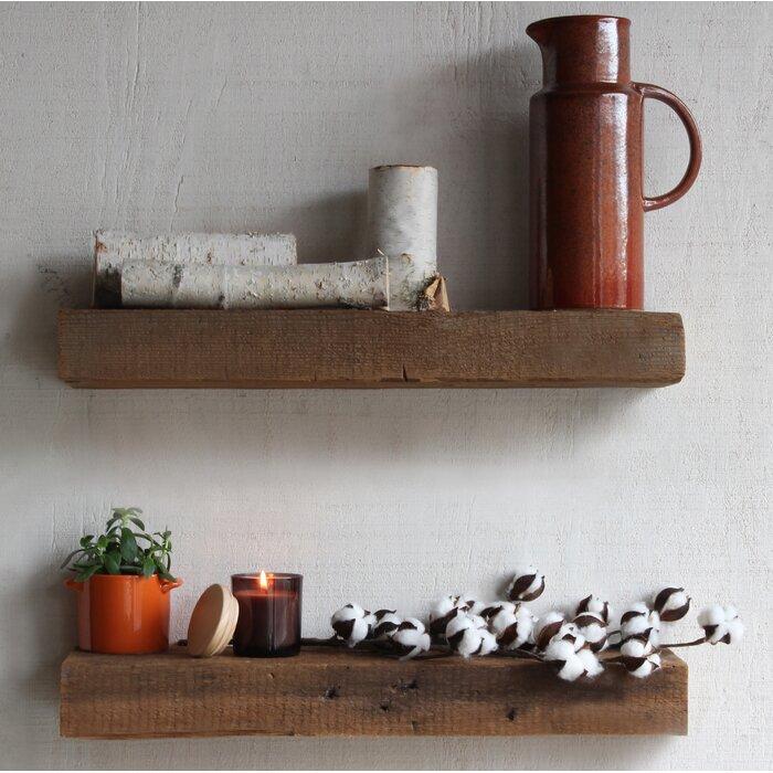 Super Bulah Reclaimed Barn Wood Floating 2 Piece Wall Shelf Set Download Free Architecture Designs Rallybritishbridgeorg