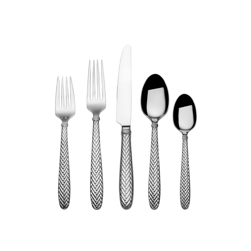 Reins 20 Piece 18/10 Stainless Steel Flatware Set, Service For 4