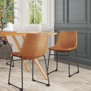 Cladeus Vintage Upholstered Dining Chair (Set of 2) Wrought Studio