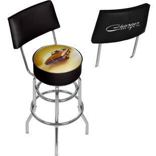 Dodge 69 Charger 31 Swivel Bar Stool by Trademark Global Top Reviews