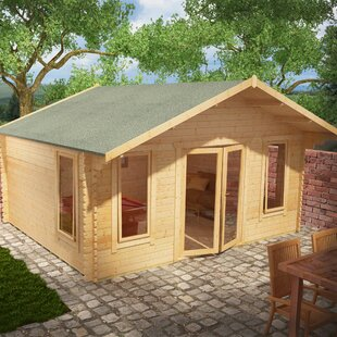 Shere 18 X 12 Ft. Tongue And Groove Log Cabin By Tiger Sheds