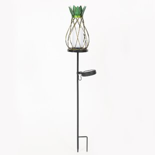 Winsome House Pineapple Solar Garden Stake Pathway Light