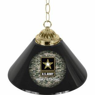 Trademark Global U.S Army 1-Light Pool Table Lights Pendant