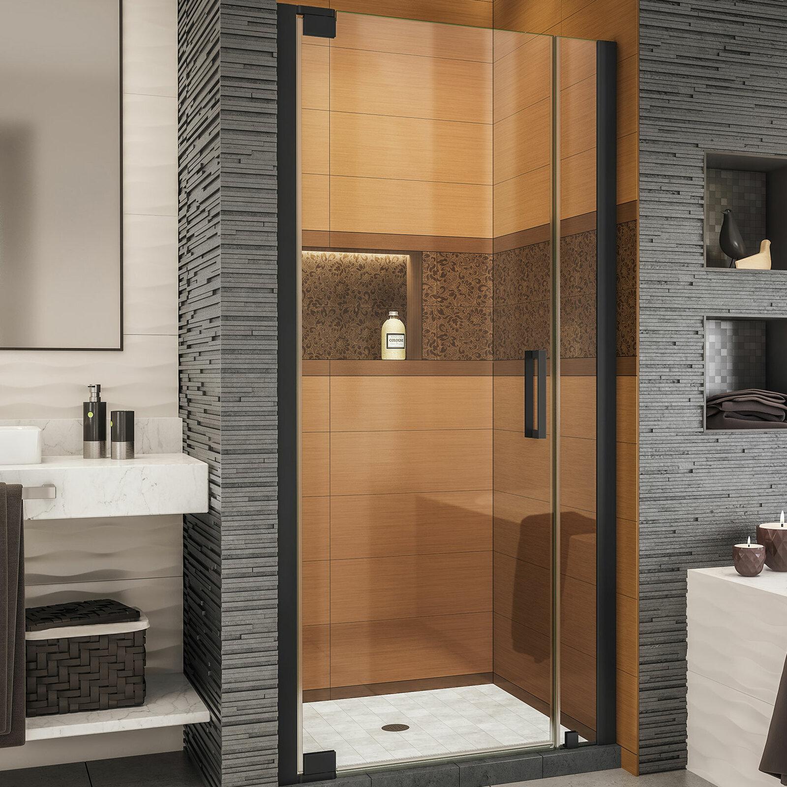 Elegance Ls 34 75 X 72 Pivot Frameless Shower Door With Clearmax Technology