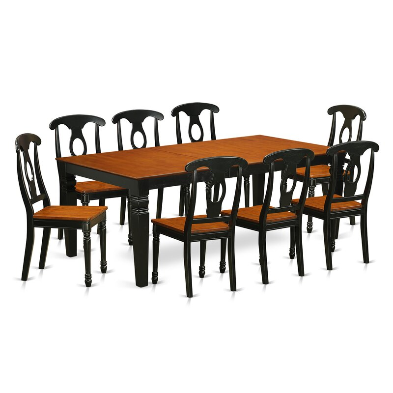 Beesley 9 Piece Black/Cherry Dining Set