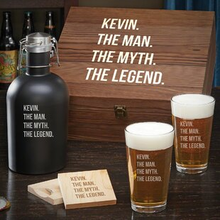 Bodner Man Myth Legend Custom 6 Piece Beverage Serving Set