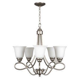 Charlton Home Ellis 5-Light Shaded Chandelier