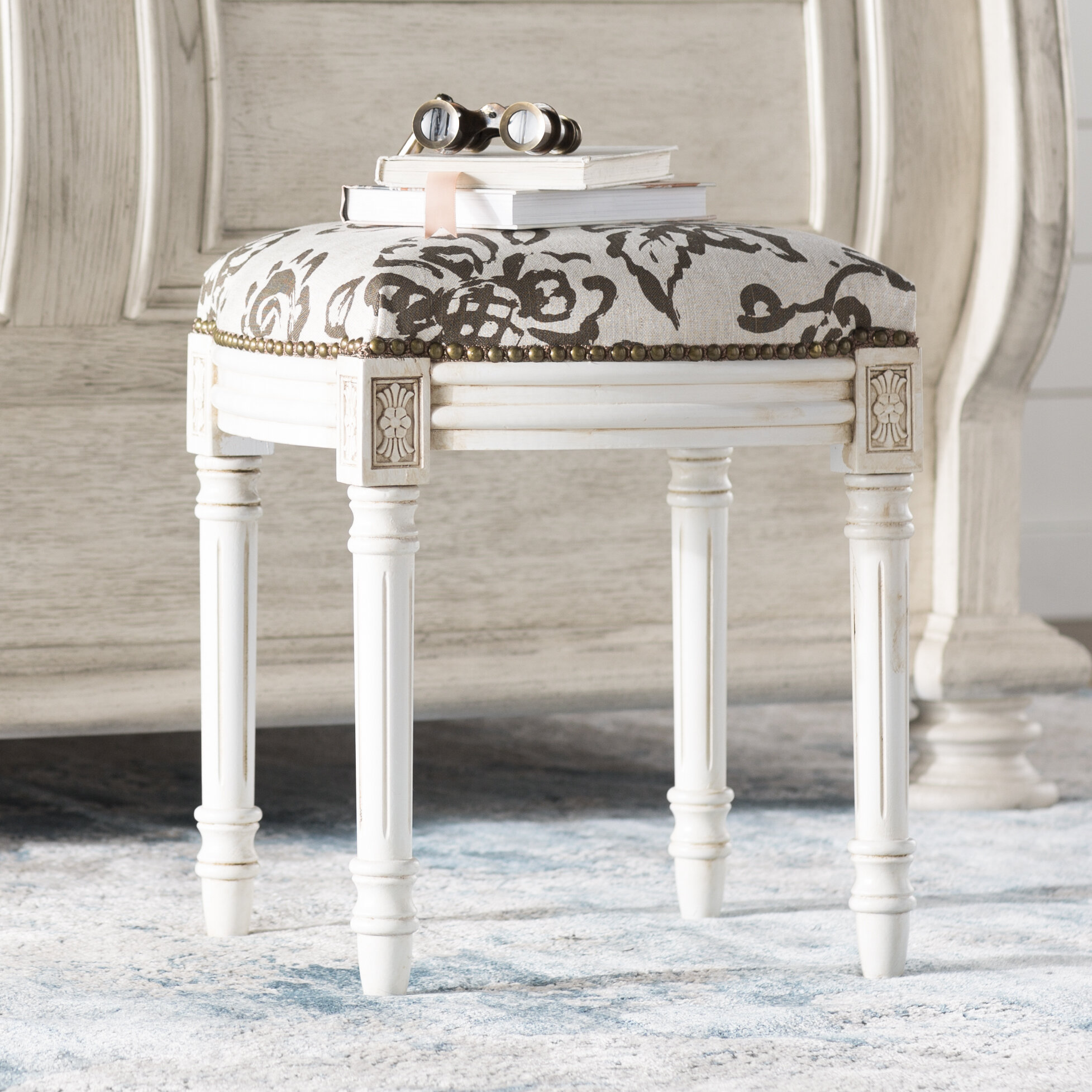 Floral Vanity Accent Stools You Ll Love In 2021 Wayfair