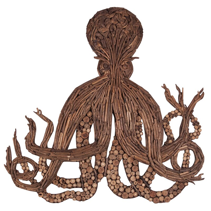 Driftwood Octopus Wall Décor