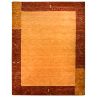 Bellefontaine Hand Knotted Orange Rug by Longweave