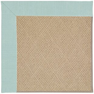 Zoe-Cane Wicker Ocean Gray Indoor/Outdoor Area Rug