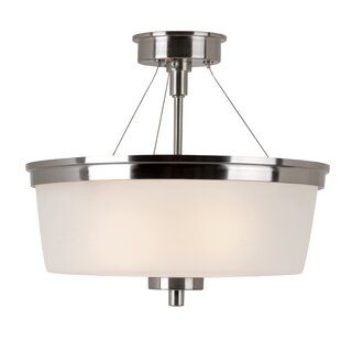 Youngs 1-Light Semi Flush Mount by Latitude Run