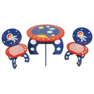 Glidewell Rocket Ship Children's 3 Piece Round Table And Chair Set By Zoomie Kids