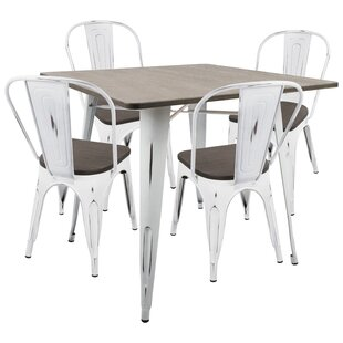Pinnix 5 Piece Dining Set Union Rustic