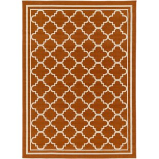 Osage Rust Indoor/Outdoor Area Rug By Charlton Home