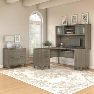 Ebern Designs Kirchoff 3 Piece L-shaped Desk Office Suite