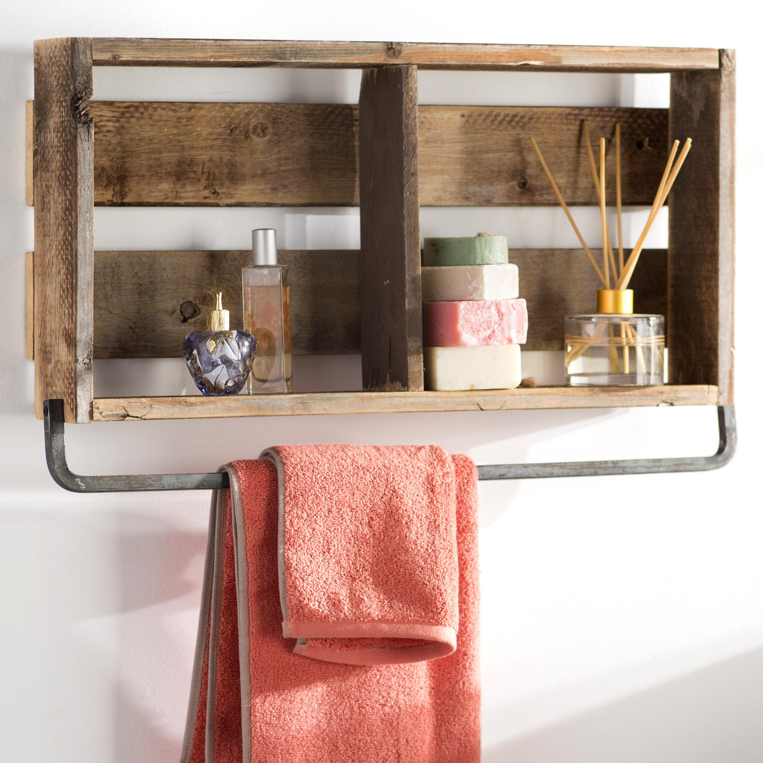 Mistana Natashia Barnwood Plank Wall Shelf Reviews Wayfair