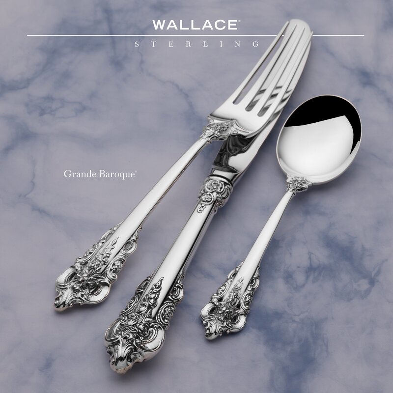 Wallace Grand Baroque Sterling Silver Baby Fork and Spoon Set