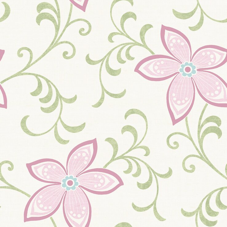 Brewster home fashions christel khloe girly 33 x 205 floral 3d christel khloe girly 33 x 205 floral 3d embossed wallpaper voltagebd Gallery