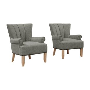 Best Price Rushden Rolled Armchair (Set of 2) by Gracie Oaks Reviews (2019) & Buyer's Guide