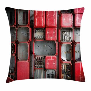 Fuse Cabinet Square Pillow Cover by East Urban Home
