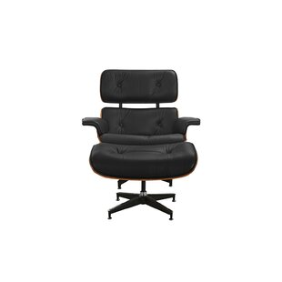 George Oliver Brodsky Swivel Lounge Chair and Ottoman