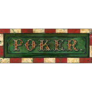 'Poker' Graphic Art on Wood by Winston Porter