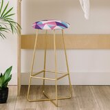 Lara Kulpa Geo Holo 31 Bar Stool by East Urban Home