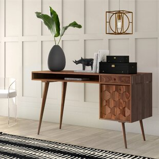 Lietz Solid Wood Credenza Desk by Mercury Row Best #1