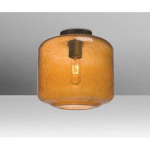 Spero Ceiling Cylinder 1-Light Semi Flush Mount by Brayden Studio