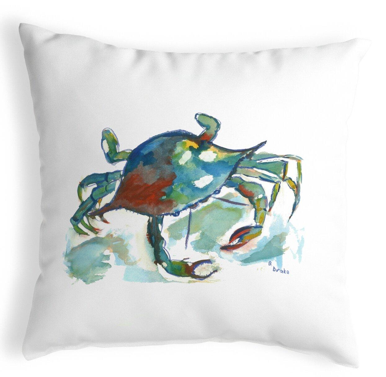 Highland Dunes Perdue Betsy S Crab Indoor Outdoor Lumbar Pillow Wayfair