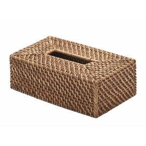 Holly Rectangular Rattan Tissue Box Cover