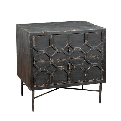 17 Stories Edwal 2 Drawer Nightstand