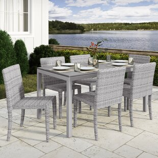 Killingworth 7 Piece Outdoor Dining Set by Rosecliff Heights Best #1
