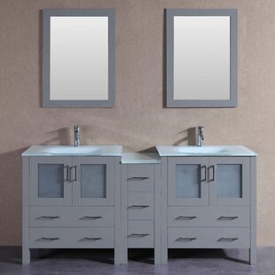 Levi 71 Double Bathroom Vanity Set with Mirror by Bosconi