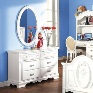 Rentchler 6 Drawer Double Dresser with Mirror by Red Barrel Studio