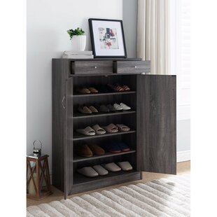 Latitude Run 13 Pair Spacious Shoe Storage Cabinet