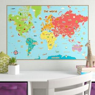 Kids World Map Wall Art   Wayfair on world map decorative box, world map posters, world map apparel, world map abstract art, world map on canvas, world map wallpaper, world map school supplies, world map as art, world map stationery, world map pillows, world map bookends, world map rugs, world map framed, world travel map, world map artwork, blank world map art, world map floral, world map baby blanket, world map miscellaneous, world map lanterns,