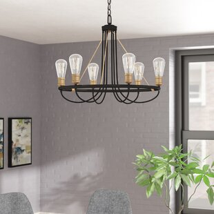 Langley Street Bendooragh 6-Light Wagon Wheel Chandelier