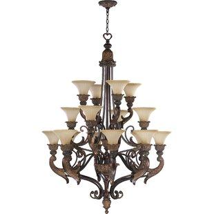 Astoria Grand Mcfarlin 16-Light Shaded Chandelier
