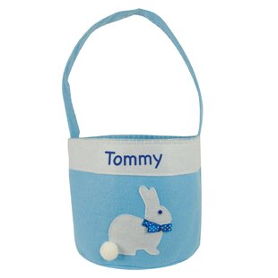 Order Personalized Bunny Easter Fabric Basket ByHarriet Bee