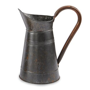 Farmhouse Galvanized Decorative Pitcher