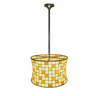 Meyda Tiffany Deco Hilton 2-Light Pendant