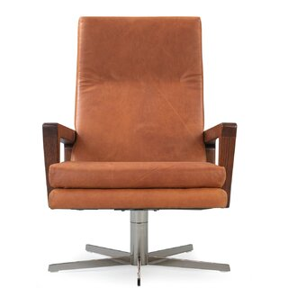 Arceneaux Leather Swivel Lounge Chair by Union Rustic SKU:AB667817 Information