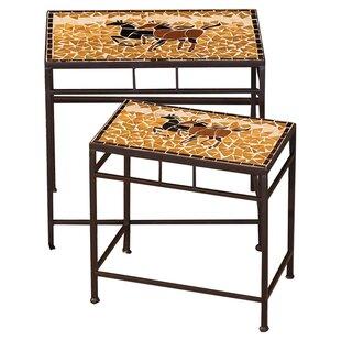 2 Piece Caballo Side Table Set by Evergreen Flag & Garden Cheap